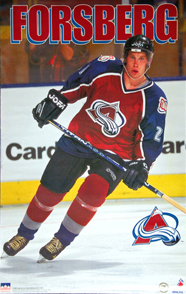 "Peter Forsberg ""Action"" Colorado Avalanche Poster - Starline Inc. 1998"