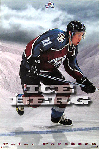 "Peter Forsberg ""Ice Berg"" Colorado Avalanche Poster - Costacos 1997"