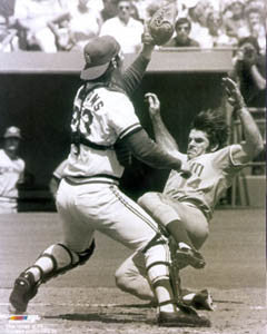 "Pete Rose ""Play at the Plate"" (c.1975) Premium Poster Print - Photofile Inc."