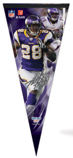 "Adrian Peterson ""Big-Time"" EXTRA-LARGE Premium Felt Pennant - Wincraft"