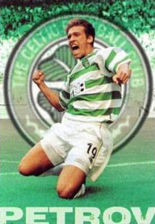 "Stilian Petrov ""Goal"" Glasgow Celtic FC Poster - GB 2000"