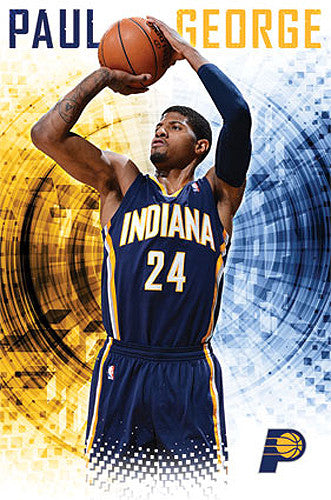 "Paul George ""Superstar"" Indiana Pacers NBA Poster - Costacos Sports 2014"