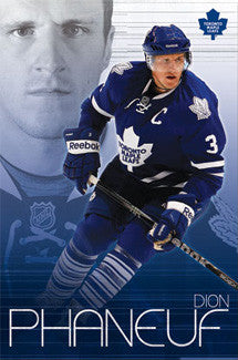 "Dion Phaneuf ""Passion"" Toronto Maple Leafs Poster - Costacos 2010"