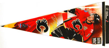 "Dion Phaneuf ""Calgary Action"" EXTRA-LARGE Premium Felt Pennant - Wincraft 2009"