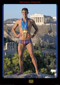 "Michael Phelps ""Athens Haul"" - Fine Art Ltd. 2004"