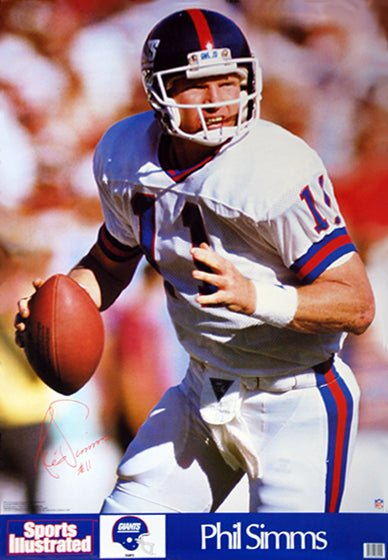 Phil Simms NFL Action Signature Series New York Giants QB Poster - Marketcom/S.I. 1989
