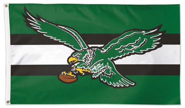 Philadelphia Eagles Official Vintage Style NFL Football 3'x5' DELUXE Flag - Wincraft Inc.
