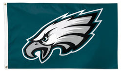 Philadelphia Eagles Official NFL Football Team Logo Deluxe-Edition 3'x5' Flag - Wincraft Inc.