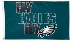 Philadelphia Eagles FLY EAGLES FLY Official NFL Football Team Logo Deluxe-Edition 3'x5' Flag - Wincraft Inc.