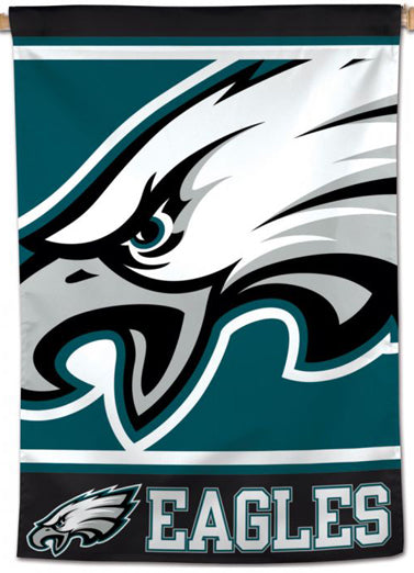 Philadelphia Eagles Logo-Style Official NFL Team 28x40 Wall BANNER - Wincraft Inc.