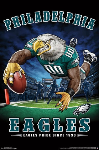 "Philadelphia Eagles ""Eagles Pride Since 1933"" NFL Theme Art Poster - Liquid Blue/Trends Int'l."
