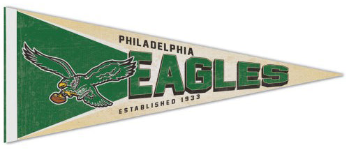 "Philadelphia Eagles ""Attacking Bird"" NFL Retro-Style Premium Felt Collector's Pennant - Wincraft Inc."