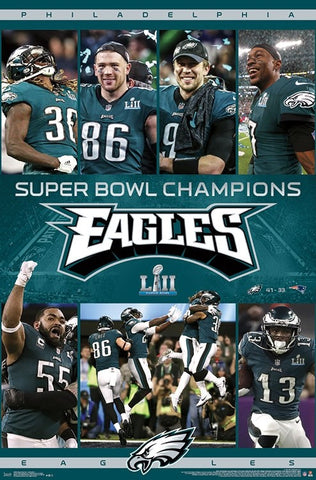 1fc90223c7b58 Philadelphia Eagles Super Bowl LII (2018) CELEBRATION Official Poster -  Trends International