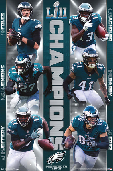 Philadelphia Eagles Super Bowl LII (2018) CHAMPIONS Official Poster - Trends International