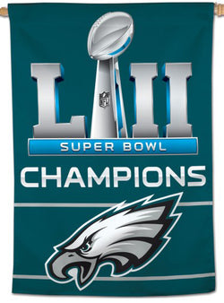 Philadelphia Eagles Super Bowl LII Champs (2018) Wall BANNER - Wincraft Inc.