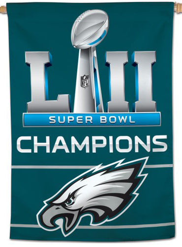 *SHIPS APPROX. 2/18* Philadelphia Eagles Super Bowl LII Champs (2018) Wall BANNER - Wincraft Inc.
