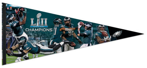 Philadelphia Eagles Super Bowl LII CHAMPIONSHIP MOMENTS Premium XL Felt Collector's PENNANT