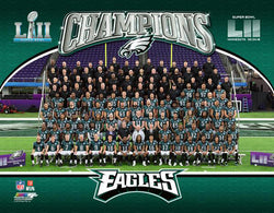 Philadelphia Eagles Super Bowl LII Official Team Portrait Premium Poster Print - Photofile