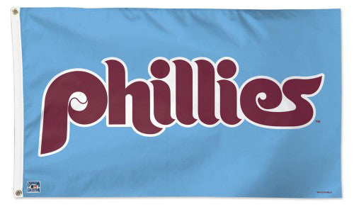 *SHIPS MAY 2020* Philadelphia Phillies Retro 1970s Style Official Deluxe-Edition MLB 3'x5' Flag - Wincraft Inc.