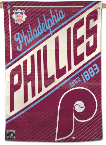 "Philadelphia Phillies ""Since 1883"" Cooperstown Collection Premium 28x40 Wall Banner - Wincraft Inc."