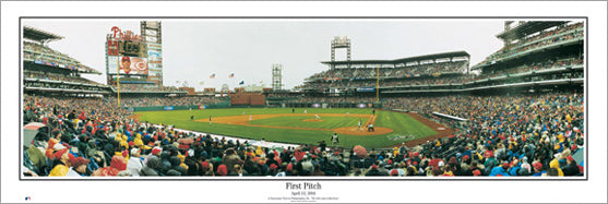 Philadelphia Phillies First Pitch at Citizens Bank Park Panoramic Poster - Everlasting Images 2004