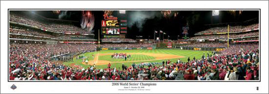 Philadelphia Phillies 2008 World Series Celebration Panoramic Poster Print - Everlasting Images