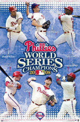 Philadelphia Phillies 2008 World Series Champions Commemorative Poster - Costacos