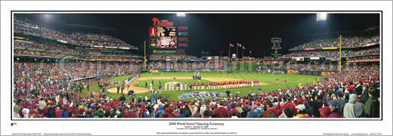 "Philadelphia Phillies ""2008 World Series Opening"" Panoramic Poster Print - Everlasting Images"