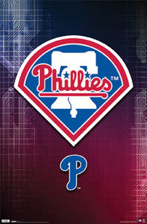 Philadelphia Phillies MLB Baseball Official Team Logo Poster - Costacos Sports