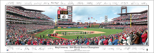 Philadelphia Phillies World Series Ring Ceremony (April 8, 2009) Panoramic Poster Print - Everlasting Images