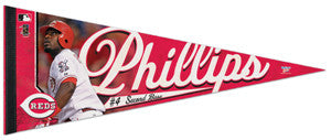 "Brandon Phillips ""Reds Action"" Premium Felt Collector's Pennant - Wincraft"