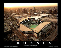 "Arizona Diamondbacks Chase Field, Phoenix ""From Above"" Poster Print - Aerial Views 2005"