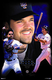 "Mike Piazza ""Superstar"" New York Mets Poster - Costacos 2000"