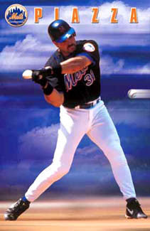 "Mike Piazza ""The Zone"" New York Mets Poster - Costacos Sports 2001"