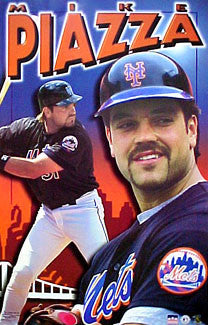 "Mike Piazza ""Big Apple"" New York Mets Poster - Starline 2001"