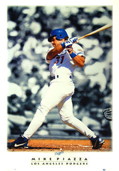 "Mike Piazza ""Diamond Classic"" L.A. Dodgers Poster - Costacos Brothers 1996"