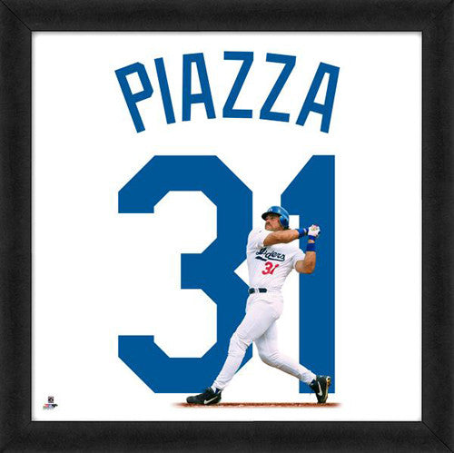 "Mike Piazza ""Number 31"" Los Angeles Dodgers MLB FRAMED 20x20 UNIFRAME PRINT - Photofile"