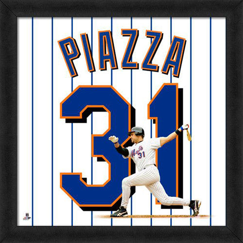 "Mike Piazza ""Number 31"" New York Mets MLB FRAMED 20x20 UNIFRAME PRINT - Photofile"