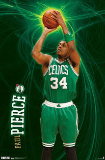 "Paul Pierce ""Electrified"" Boston Celtics Poster - Costacos 2012"
