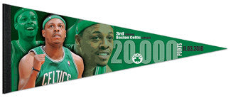 "Paul Pierce ""20,000 Celtic Points"" Premium Felt Collector's Pennant - Wincraft Inc."