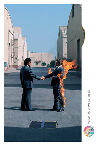 Pink Floyd Wish You Were Here (1975) Album Cover Poster - Aquarius Images