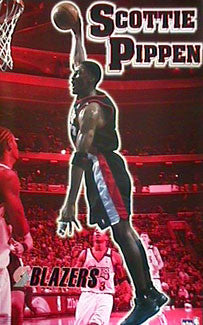 "Scottie Pippen ""Slam"" Portland Trail Blazers Poster - Starline 2000"