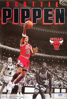 "Scottie Pippen ""Spotlight"" (1991) Chicago Bulls Poster - Starline Inc."