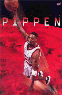 "Scottie Pippen ""Rocket"" Houston Rockets NBA Action Poster - Costacos 1999"