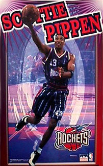 "Scottie Pippen ""Flash"" Houston Rockets Poster - Starline Inc. 1999"