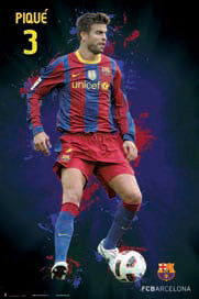 "Gerard Pique ""SuperAction"" (2011) FC Barcelona Poster - G.E. (Spain)"