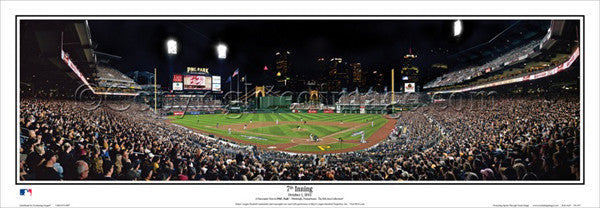 "Pittsburgh Pirates ""7th Inning"" (2013 Playoffs) PNC Park Panoramic Poster Print - Everlasting"