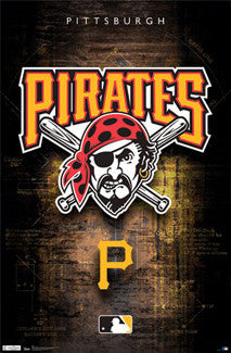 Pittsburgh Pirates Official MLB Team Logo Poster - Costacos Sports