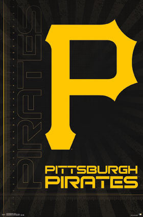 Pittsburgh Pirates Official MLB Baseball Team Logo Poster - Trends International