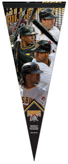 "Pittsburgh Pirates ""Sluggers"" (McCutchen, Alvarez, Jones, Harrison) Premium Pennant"